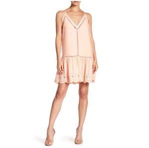 BB Dakota Karleen Eyelet Hem Salmon Dress